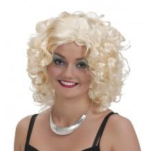 Krøllete Blond Parykk