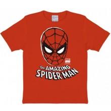 T-Skjorte Marvel The Amazing Spirderman Mask Barn