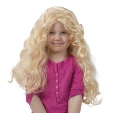 Krøllete Parykk Blond Barn