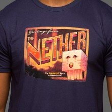 Minecraft Nether Postcard Premium T-shirt