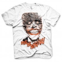 T-Skjorte Batman The Joker - HyaHaHaHa Hvit