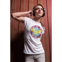 T-skjorte Wonder Woman Distressed Logo Girly Grå