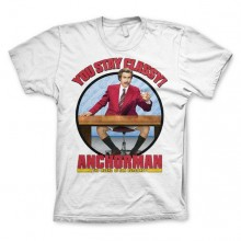 T-Skjorte Anchorman You Stay Classy Hvit