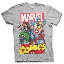 T-Skjorte Marvel Comics Heroes Grå