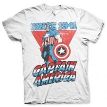 T-Skjorte Captain America Since 1941 Hvit