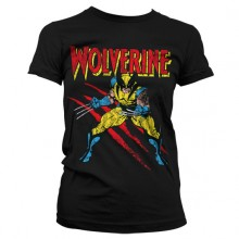 T-Skjorte Wolverine Scratches Dame Sort