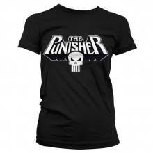 T-Skjorte The Punisher Logo Dame Sort