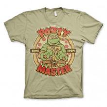 T-skjorte TMNT - Party Master Since 1984 Kaki