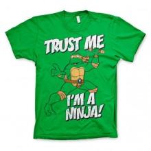T-Skjorte TMNT - Trust Me, I´m A Ninja Grønn