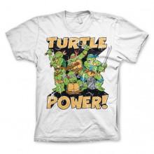 T-Skjorte TMNT - Turtle Power! Hvit