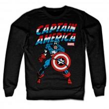 Captain America Sweatshirt Svart