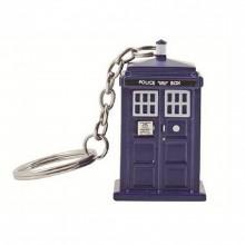 Doctor Who Tardis Lommelykt Nøkkelring