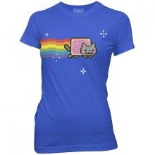 Nyan Cat Dame T-skjorte