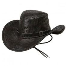 Cowboyhatt Svart Slangeskinn