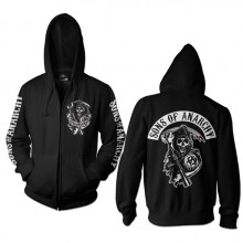 Sons Of Anarchy Backpatch Zipped Hoodie