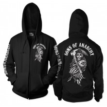 Sons Of Anarchy American Reaper Zipped Hoodie
