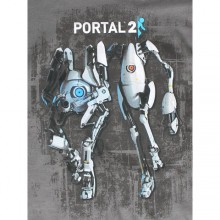 Portal 2 Atlas And P-Body T-skjorte Mørkegrå