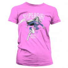 Supergirl Metropolis Distressed Girly T-skjorte