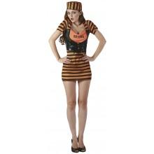 Kostyme Sexy Oransje Fange