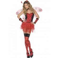Kostyme Feminint Insekt, Rød og Sort