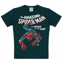 T-Skjorte Marvel The Amazing Spiderman Barn Sort