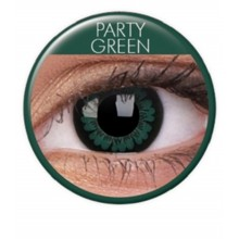 Fargede linser big eyes party green