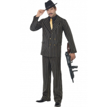 Gangster kostyme Gullstriper