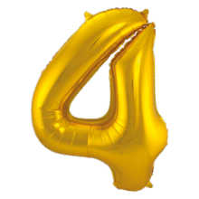 Jumbo Sifferballong Guld 4