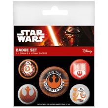 Star Wars Episode Vii Resistance Badges 5-Pakning
