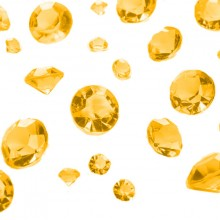 Borddekorasjon Diamant Gull