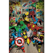 PLAKAT MARVEL COMICS (HERE COME THE HEROES)