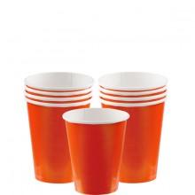 Pappkopp Oransje 8-Pakning