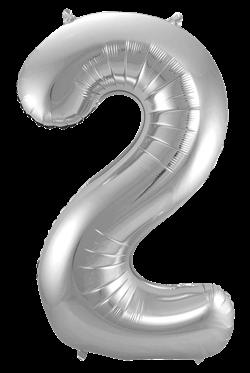 Jumbo Tallballong Sølv 2