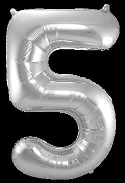 Jumbo Tallballong Sølv 5