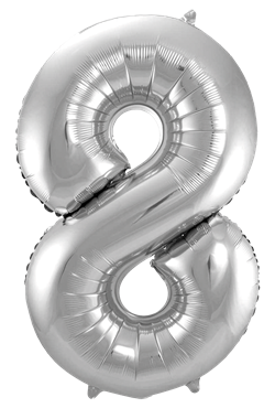 Jumbo Tallballong Sølv 8
