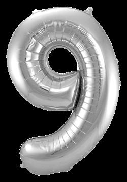 Jumbo Tallballong Sølv 9