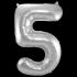 Jumbo Sifferballong Silver 5