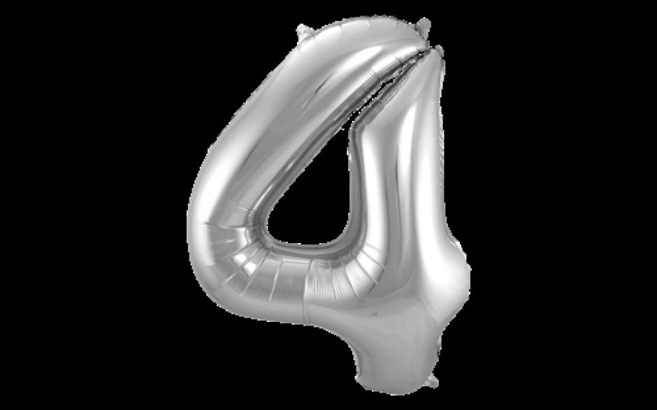 Jumbo Sifferballong Silver 4