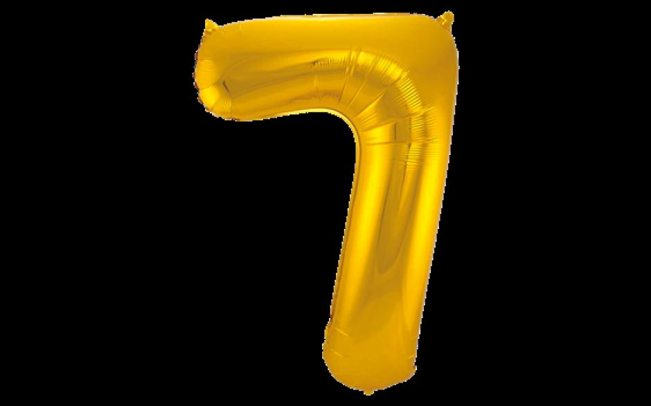 Jumbo Sifferballong Guld 7