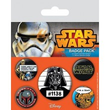 Star Wars Buttons Old School 5-Pack