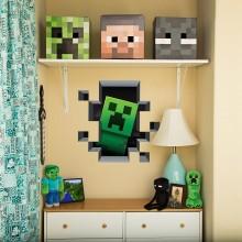 Minecraft Creeper In Wall Veggdekor