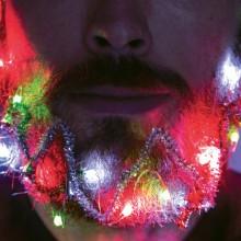 Skjeggdekoration Julebelysning & Glitter