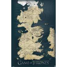 PLAKAT GAMES OF THRONES - KART