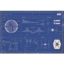 PLAKAT STAR WARS - IMPERIAL FLEET BLUEPRINT