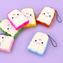 Fargede Toast Kawaii Mobilsmykke