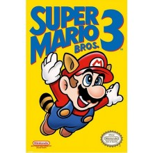 PLAKAT SUPER MARIO BROS. 3 (NES COVER)