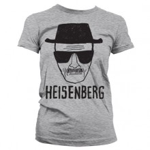 Breaking Bad Heisenberg Sketch Girly T-skjorte Grå