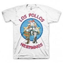 Breaking Bad Los Pollos Hermanos T-skjorte Hvit