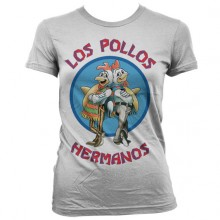 Breaking Bad Los Pollos Hermanos Dame T-skjorte Hvit