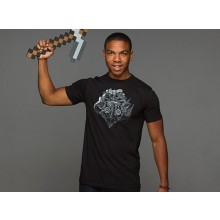 Minecraft Heroes Crest Premium T-skjorte